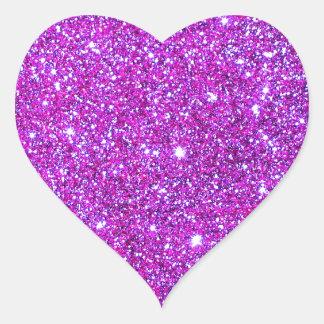 Pink Purple Sparkly Glam Glitter Designer Stickers