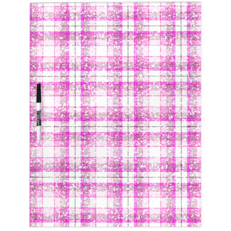 Pink & Purple Sparkly Plaid Dry-Erase Boards