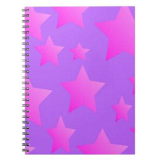 Pink/Purple Star Pattern Notebook