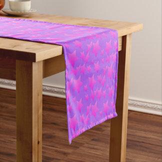 Pink/Purple Star Pattern Short Table Runner