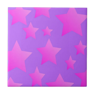 Pink/Purple Star Pattern Tile