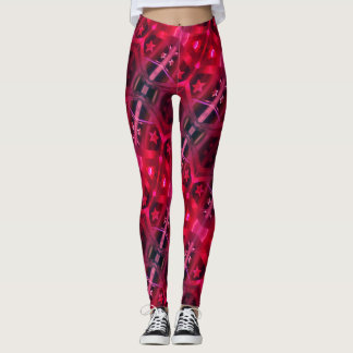Pink & Purple Star Twist Leggings
