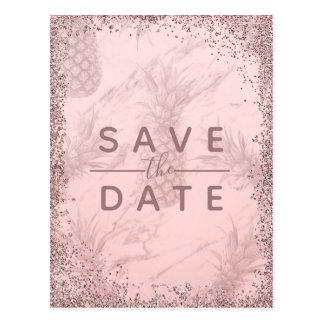 Pink Purple Starry Sky Cosmic Galaxy Save the Date Postcard