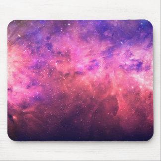 Pink Purple Starry Sky Cosmic Galaxy Sky Fire Glow Mouse Pad