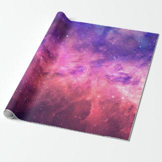 Pink Purple Starry Sky Cosmic Galaxy Sky Fire Glow Wrapping Paper