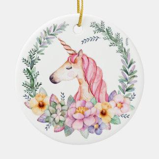 Pink & Purple Unicorn Christmas Tree Ornament
