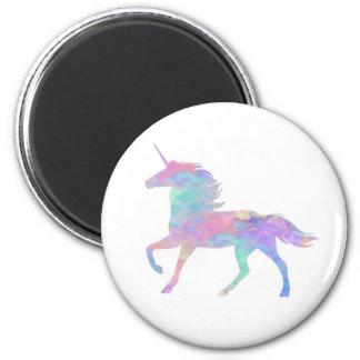 Pink Purple Unicorn Magical 6 Cm Round Magnet