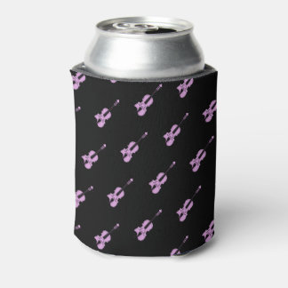 Pink/Purple Violin Pattern Can Cooler