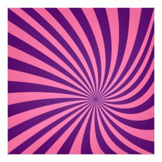 Pink purple vortex photo print