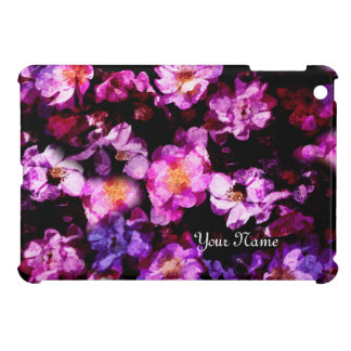 Pink Purple Wild Roses Abstract Painterly Montage Case For The iPad Mini