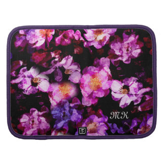 Pink Purple Wild Roses Abstract Painterly Montage Planners