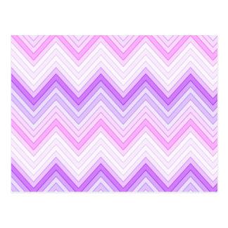 Pink & Purple Zigging Zags Postcard
