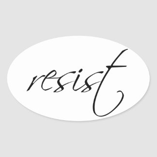 Pink Pussy Badass: Resist Oval Stickers