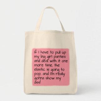 Pink Put on Big Girl Panties Word Saying Shopping