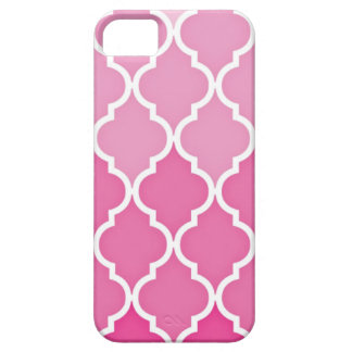 Pink Quatrefoil Barely There iPhone 5 Case