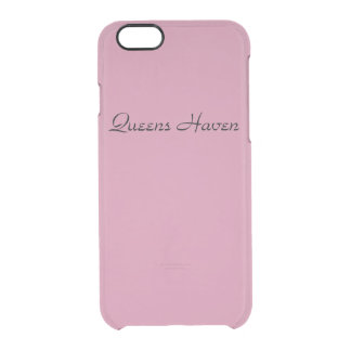 Pink Queens Haven Clear iPhone 6/6S Case