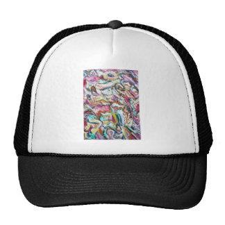 Pink Quetzalcoatl (abstract expressionism) Cap