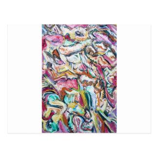 Pink Quetzalcoatl (abstract expressionism) Postcard
