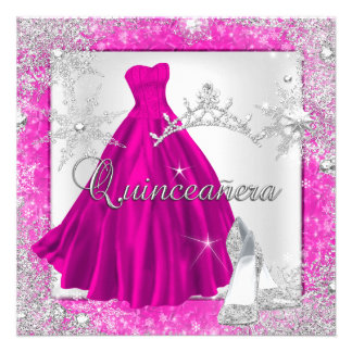 Pink Quinceanera 15th Elite Elegant Birthday Party Personalized Invites