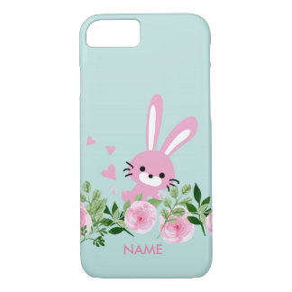 pink rabbit iPhone 7, Barely There iPhone 7 Case