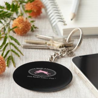 Pink Rabbit Supper Club Keychain