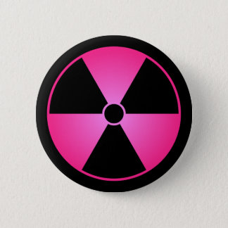 Pink Radiation Symbol Button