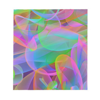 Pink Rainbow Abstract Notepad