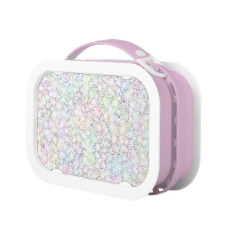Pink Rainbow and White Star Cluster Kawaii Girl Lunchboxes