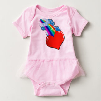 Pink Rainbow Baby by Mini Brothers Baby Bodysuit
