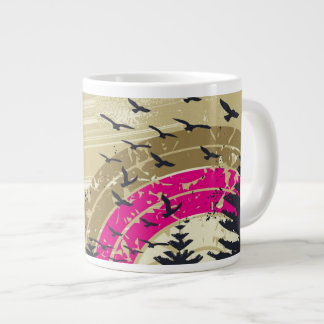 Pink Rainbow Large Coffee Mug