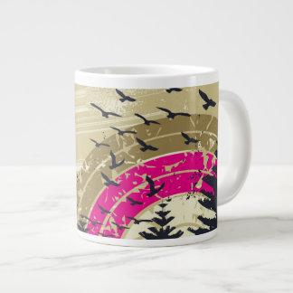 Pink Rainbow Large Coffee Mug