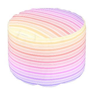 Pink Rainbow Tones Round Pouf