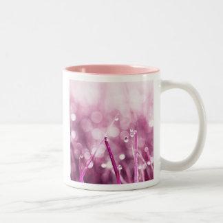 pink raindrops mug