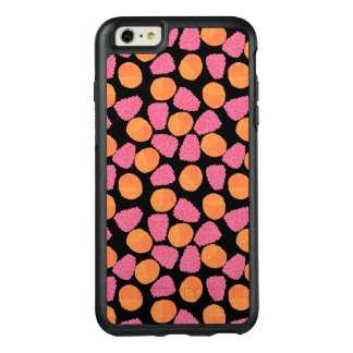 Pink Raspberries and Orange Tangerines on  Black OtterBox iPhone 6/6s Plus Case