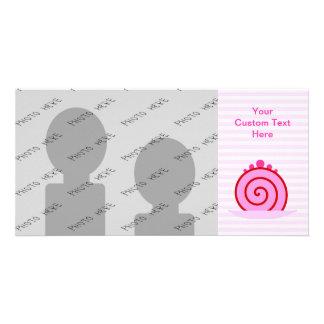 Pink Raspberry Cake Customized Photo Card