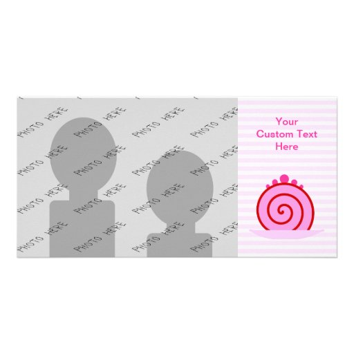 Pink Raspberry Cake. Customized Photo Card