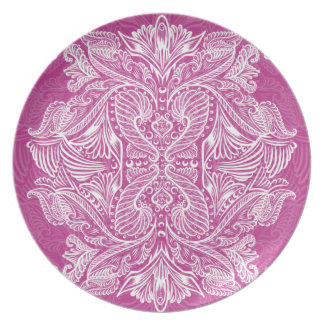 Pink, Raven of mirrors, dreams, bohemian Plate