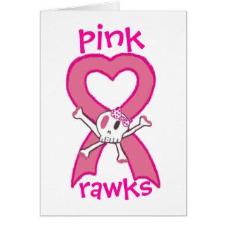 pink rawks greeting card