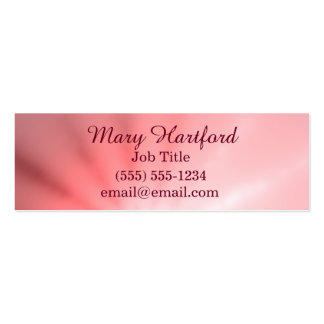 Pink Ray of Light Pack Of Skinny Business Cards