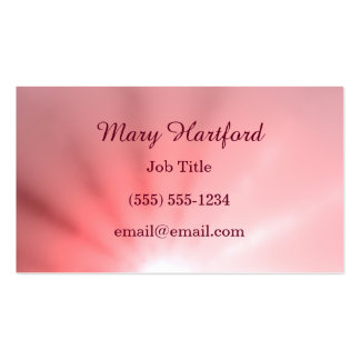 Pink Ray of Light Pack Of Standard Business Cards