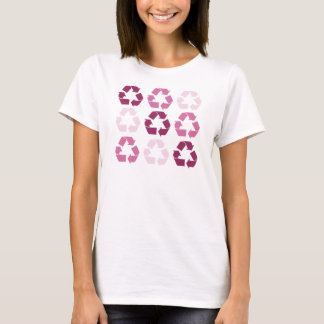 Pink Recycle Symbols T-Shirt