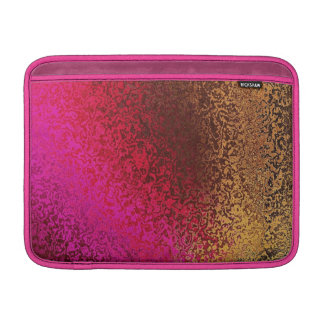 Pink Red And Gold Pattern MacBook Air Sleeve