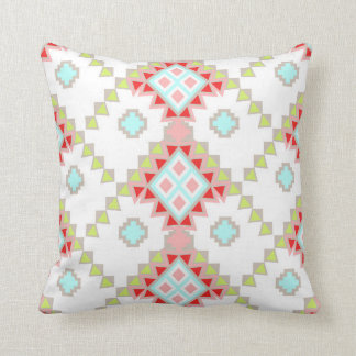 Pink, Red and Green Aztec Southwestern Design Cushion