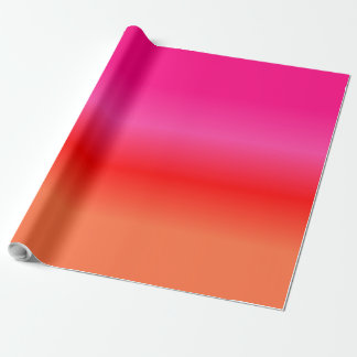 Pink,  Red and Orange Gradient wrapping paper