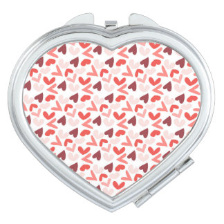 Pink, Red, and Purple Hearts Pattern Vanity Mirrors