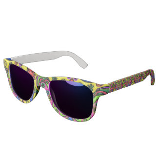 Pink Red Blue and Green Hearts Stars and Flowers Sunglasses