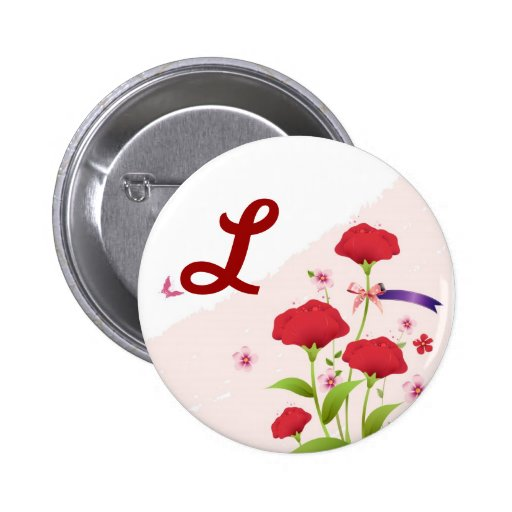 Pink Red Floral Save the Date, available ro Buttons