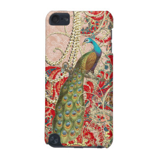 Pink Red Gold Peacock Swirl iTouch iPod Touch (5th Generation) Covers