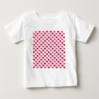 Pink Red Heart Pattern - Customize Background T-shirts