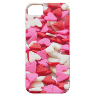 Pink Red Heart Sprinkles Candy Pattern Barely There iPhone 5 Case